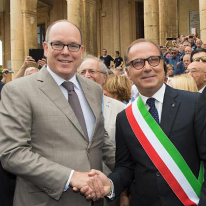 Déplacement de S.A.S.le Prince Albert II en Sicile