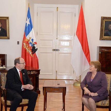 Réunion du Prince Souverain avec la Présidente du Chili