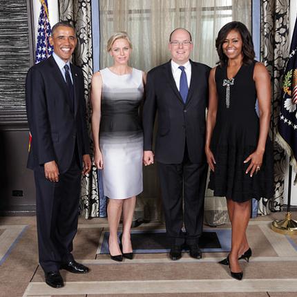 Réception organisée par le Couple présidentiel américain