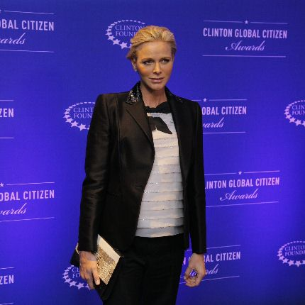 H.S.H. Princess Charlène attended the opening of the 10th Annual Meeting of the Clinton Global...