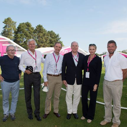Princely couple attended the Evian golf tournament