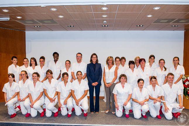 Remise des insignes et diplômes aux élèves infirmières du Centre Hospitalier Princesse Grace