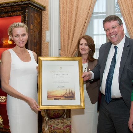 HSH Princess Charlene receives Her family tree