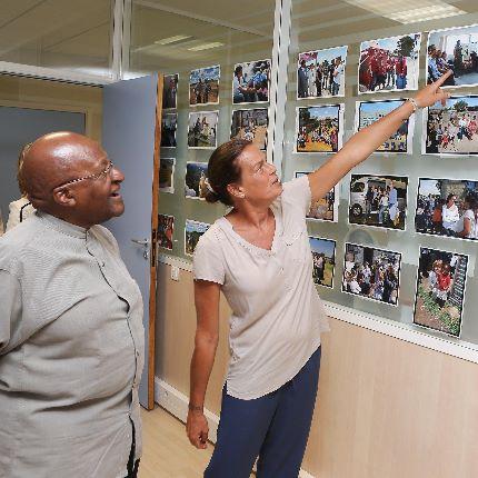 Visite de l'Archevêque Desmond Tutu à Fight Aids Monaco