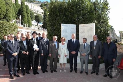 Cérémonie en mémoire des juifs de Monaco déportés pendant la Seconde Guerre mondiale