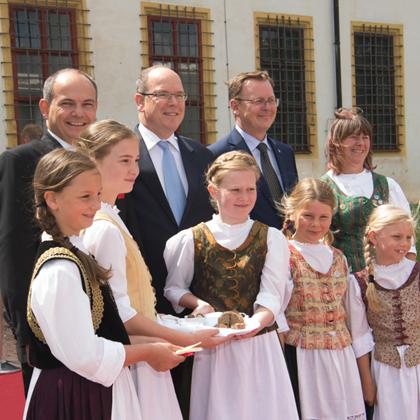 Déplacement de S.A.S.le Prince Albert II à Gotha