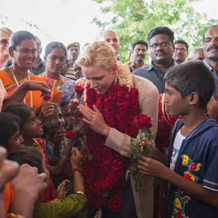 Déplacement de S.A.S. la Princesse Charlène en Inde