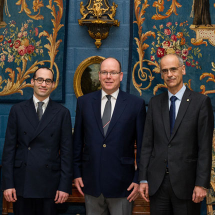 Audiences de Saint-Marin et de la Principauté d'Andorre au Palais princier