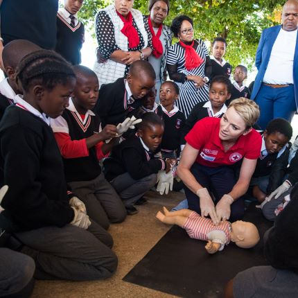 Déplacement de S.A.S. la Princesse Charlène en Afrique du Sud