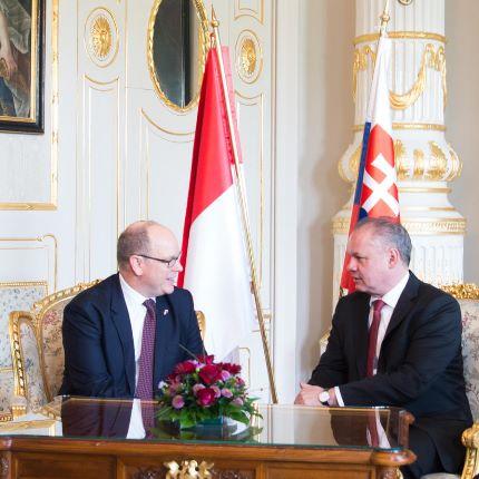 H.S.H. Prince Albert II's Official Visit to Slovakia - 2 and 3 May 2017
