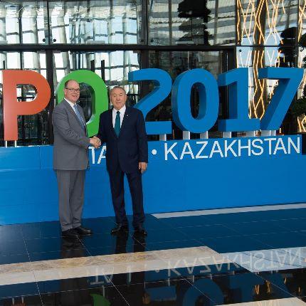 Déplacement au Kazakhstan pour l'Exposition internationale 2017