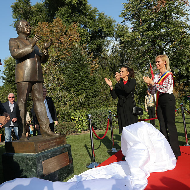 S.A.S. la Princesse Stéphanie en Roumanie