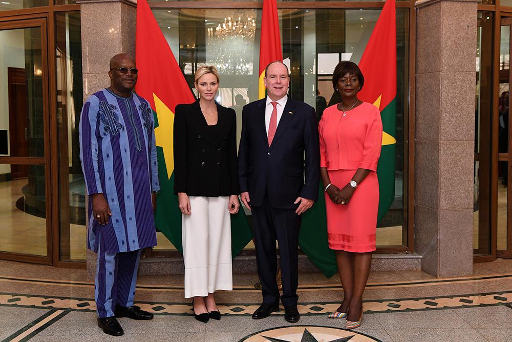 LL.AA.SS. le Prince et la Princesse en visite au Burkina Faso