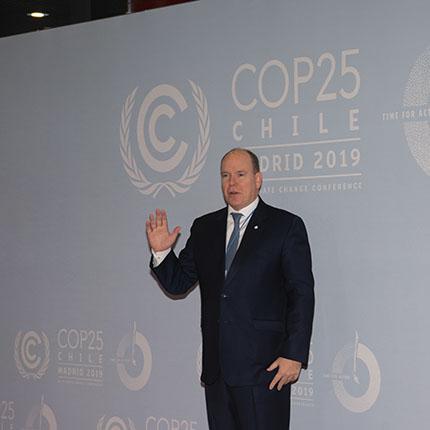 S.A.S. le Prince Albert II à la COP25 de Madrid