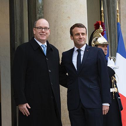 Visite de travail de S.A.S. le Prince Albert II de Monaco au Président de la République française