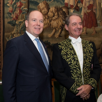 H.S.H. Prince Albert II at the Institut de France