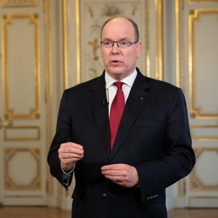 Covid 19 Speech of H.S.H. Prince Albert II regarding the lockdown
