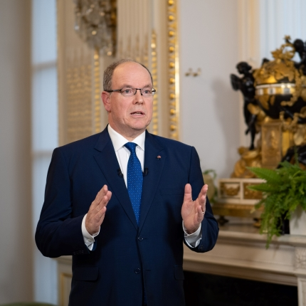 Covid 19 Speech of H.S.H. Prince Albert II regarding the new health measures on the occasion of the festive season