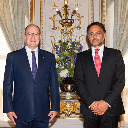 H.E. Mr Giulio Alaimo, new Ambassador Extraordinary and Plenipotentiary of Italy to the Principality of Monaco