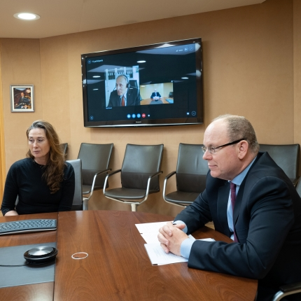 Interview of H.S.H. Prince Albert II with post-doctoral students of the ITER research programme