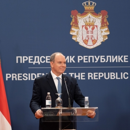 Official visit of H.S.H. Prince Albert II to the Republic of Serbia