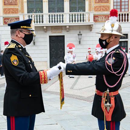 Passation de commandement du Corps des sapeurs-pompiers de Monaco