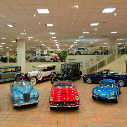 Private collection of antique cars