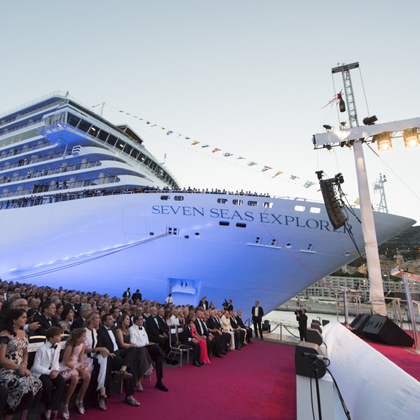 Inauguration du bateau Regent Seven Seas