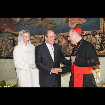 Visite de LL.AA.SS. le Prince Albert II et la Princesse Charlène au Vatican