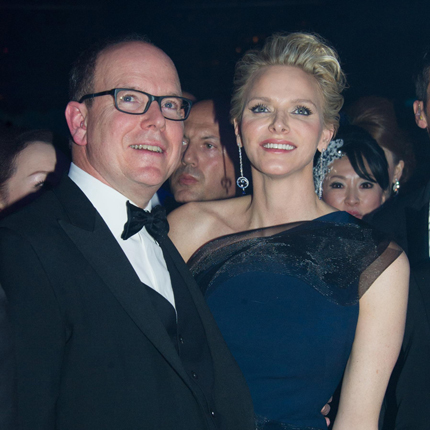 S.A.S. le Prince Albert II et S.A.S. Charlène Wittstock