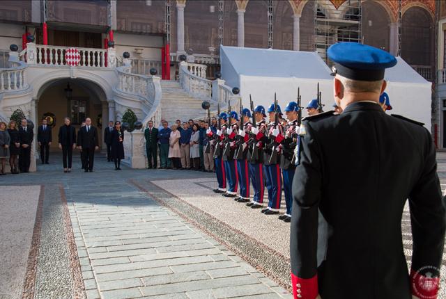 Minute de silence au Palais Princier