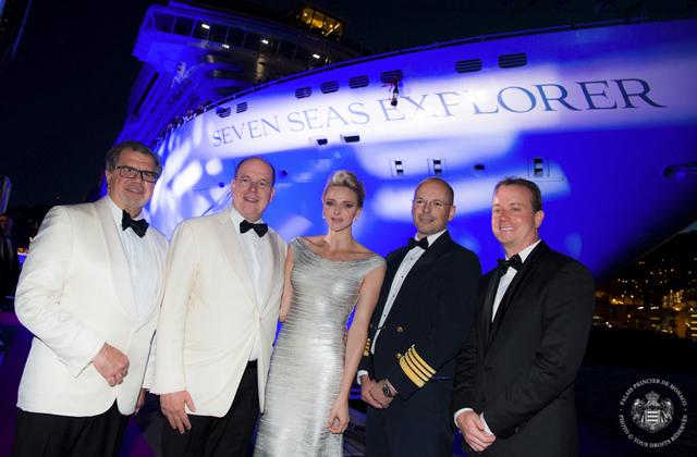 Inauguration du bateau Seven Seas Explorer par S.A.S. la Princesse Charlène