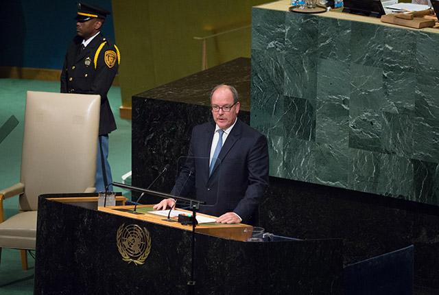 S.A.S. le Prince Albert II à l'ONU