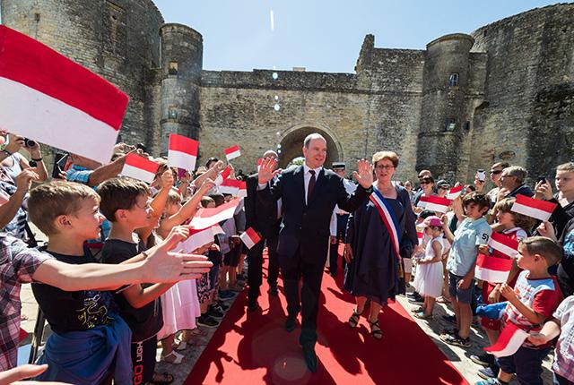 Déplacement de S.A.S. le Prince Albert II en Nouvelle Aquitaine
