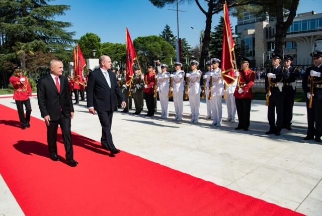 Visite officielle de S.A.S. le Prince Albert II en Albanie