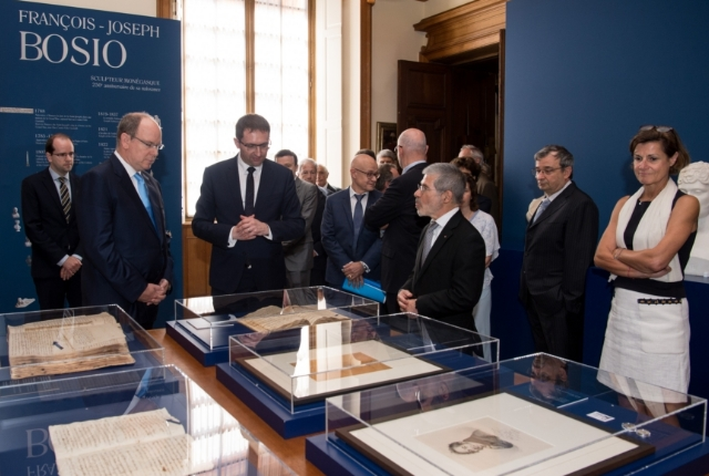 Inauguration by H.S.H. the Prince of the Bosio exhibition in the Palace of Monaco