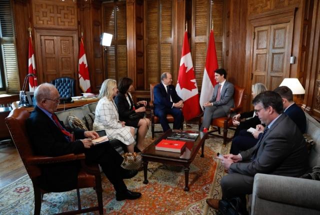Visite de S.A.S. le Prince au Canada