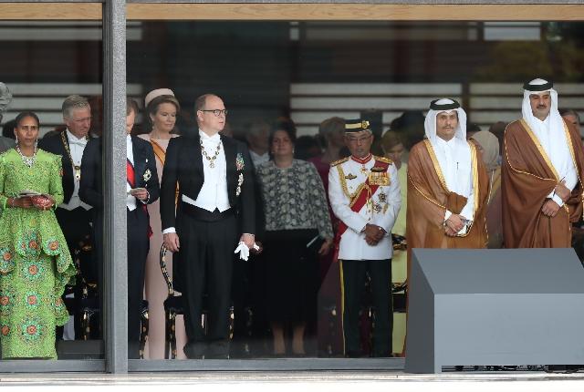 S.A.S. le Prince aux cérémonies d'intronisation de Sa Majesté l'Empereur du Japon