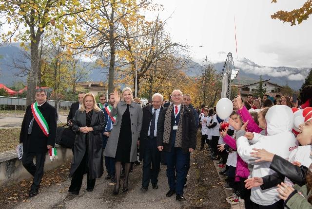 S.A.S. la Princesse Charlène en visite en Italie