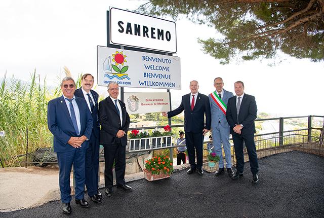 Visite de S.A.S. le Prince Albert II à San Remo (Italie)