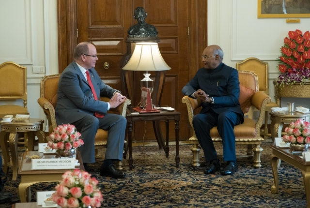 Official visit of H.S.H the Prince to India