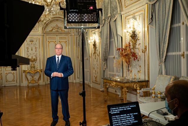 Allocution de S.A.S. le Prince Albert II - Nouvelles mesures sanitaires liées à la pandémie de...