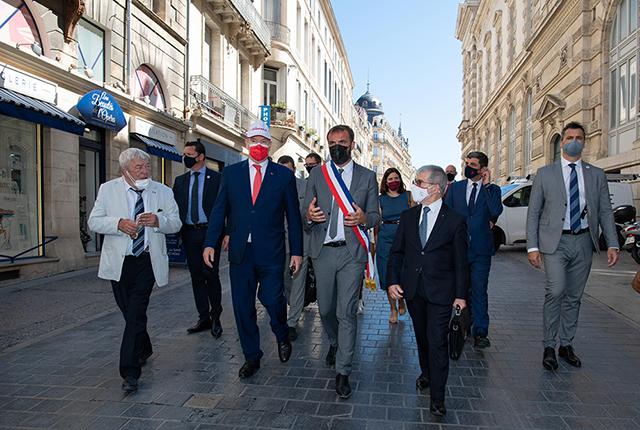 Visite de S.A.S. le Prince à Montpellier