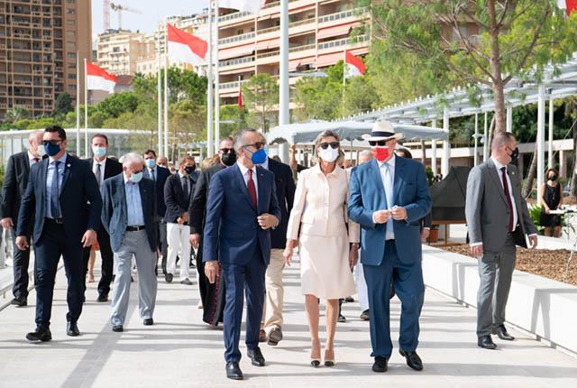Inauguration de la promenade Princesse Louise-Hippolyte et des places Anne-Marie Campora et...