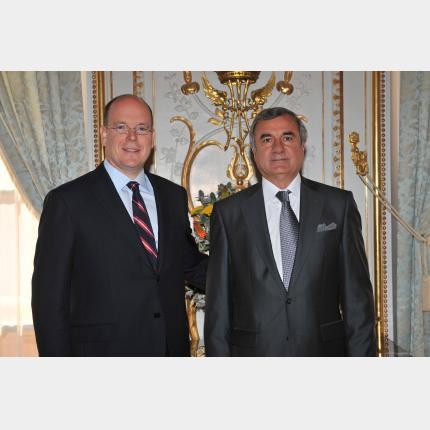 Remise des lettres de créance de S.E. M. Tarik ALIEV, Ambassadeur Extraordinaire et Plénipotentiaire de la République d'Azerbaïdjan auprès de la Principauté de Monaco