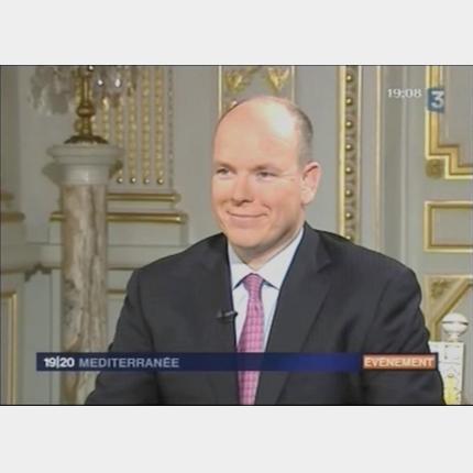 Interview de SAS le Prince Albert II sur FR3 Méditerranée