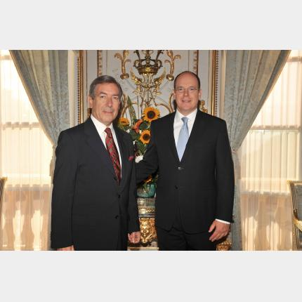 Remise des lettres de créance de S.E. Monsieur Osman T. KORUTÜRK Ambassadeur Extraordinaire et Plénipotentiaire de la République de Turquie auprès de la Principauté de Monaco