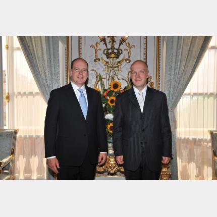 Remise des lettres de créance de S.E. Monsieur Pavel FISCHER Ambassadeur Extraordinaire et Plénipotentiaire de la République Tchèque auprès de la Principauté de Monaco