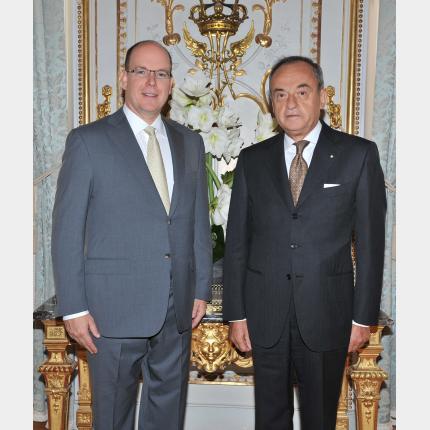 Remise des lettres de créance de S.E. M. Franco MISTRETTA Ambassadeur Extraordinaire et Plénipotentiaire de la République italienne auprès de la Principauté de Monaco