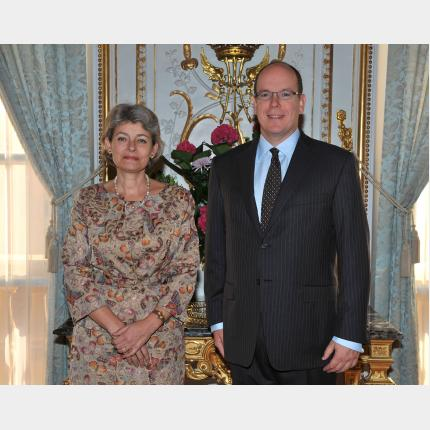 Presentation of Credentials by H.E. Mrs Irina Georgieva BOKOVA, Ambassador Extraordinary and Plenipotentiary of The Bulgaria to the Principality of Monaco